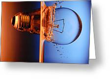 Light Bulb Shot Into Water Greeting Card