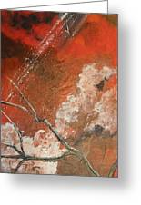 Light In The Red Sky Greeting Card