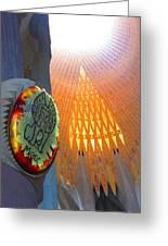 Light In The Sagrada Familia Greeting Card
