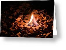 Light Of Fire Creates Coziness ... Greeting Card