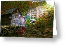 Light On The Mill Greeting Card