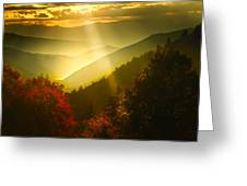 Light On The Moutain Greeting Card
