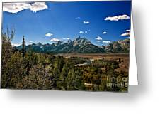 Light Rays On The Grand Tetons Greeting Card