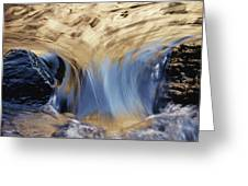 Light Reflected On Water Flowing Greeting Card