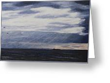 Light Through The Clouds Greeting Card