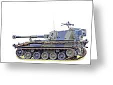 Light Weight Battle Tank Greeting Card