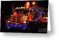 Lighted Cement Truck Greeting Card