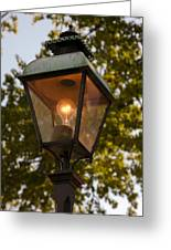Lighted Street Lamppost Greeting Card
