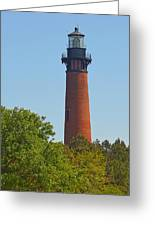 Lighthouse At Corolla N C Greeting Card