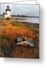 Lighthouse At Dawn Greeting Card
