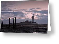 Lighthouse At Low Tide II Greeting Card