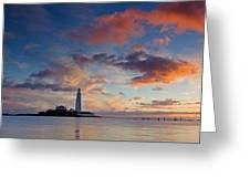 Lighthouse At Sunrise Greeting Card