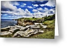 Lighthouse At Watson Bay Greeting Card