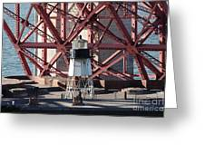 Lighthouse Atop Fort Point Next To The San Francisco Golden Gate Bridge - 5d19001 Greeting Card