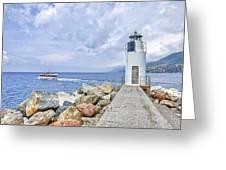 Lighthouse Camogli Greeting Card
