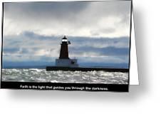 Lighthouse Faith Greeting Card