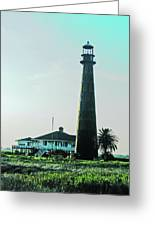 Lighthouse Galveston Greeting Card
