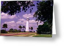Lighthouse In Biloxi Mississippi Greeting Card