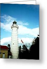 Lighthouse In Door County Greeting Card