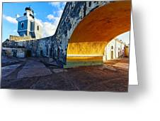Lighthouse In Fort El Morro Greeting Card