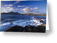 Lighthouse In The Distance, Fort Point Greeting Card