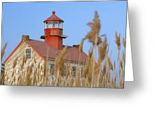 Lighthouse In Wheat Field Greeting Card