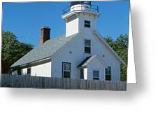 Lighthouse Near The Beach Greeting Card