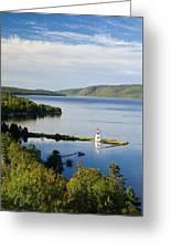 Lighthouse On Boulardarie Island Greeting Card