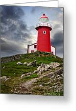 Lighthouse On Hill Greeting Card