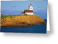 Lighthouse On Prince Edward Island Greeting Card