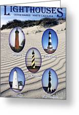 Lighthouses Of The Outer Banks Greeting Card