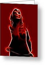Lighting Woman Greeting Card