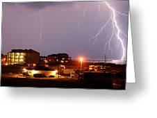 Lightning At Outer Banks Greeting Card