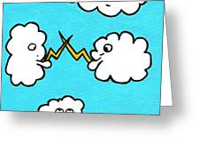 Lightning Fight Greeting Card