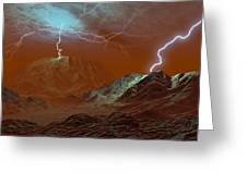 Lightning On Venus, Artwork Greeting Card