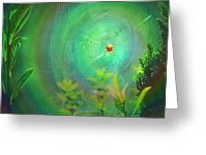 Lightning Spider Greeting Card