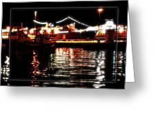 Lights Of Harbor Greeting Card
