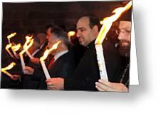 Lights Parade In Beit Jala Greeting Card
