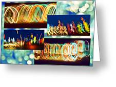 Lightshow Collage Greeting Card