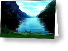 Ligth Fjord Norway Greeting Card