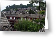 Lijiang Rooftops Greeting Card