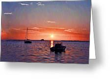 Like A Painted Sky Greeting Card