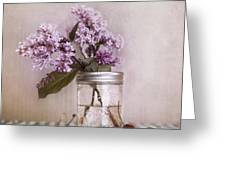 Lilac And Cherries Greeting Card