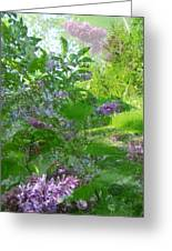 Lilac In The Air Greeting Card