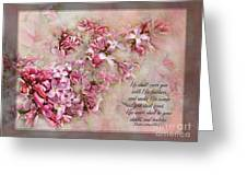 Lilacs With Verse Greeting Card
