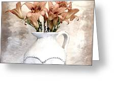 Lilies Pitcher Greeting Card