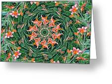 Lilly In Abstract Greeting Card