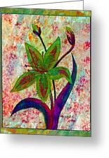 Lily Abstraction Greeting Card
