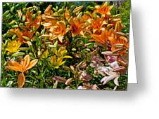 Lily Garden Bouquet  Greeting Card