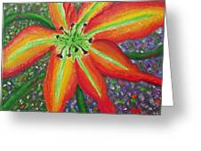 Lily In My Garden Greeting Card